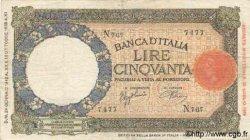 50 Lires ITALIE  1942 P.057 pr.TTB