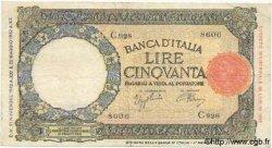 50 Lires ITALIE  1942 P.058 TB à TTB