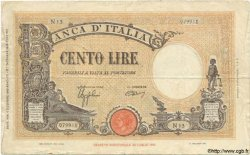 100 Lire ITALIE  1942 P.059 TB+ à TTB