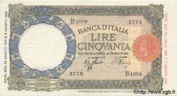 50 Lires ITALIE  1943 P.066 SUP+