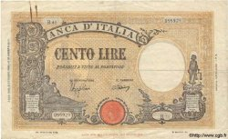 100 Lires ITALIE  1943 P.067a TB+ à TTB