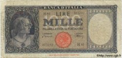1000 Lires ITALIE  1947 P.082 B à TB