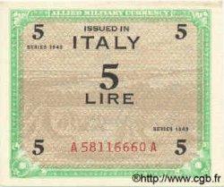 5 Lires ITALIE  1943 PM.12a SPL