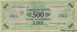 500 Lires ITALIE  1943 PM.22a B+