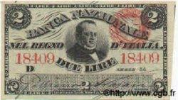 2 Lires ITALIE  1868 PS.211 SPL+