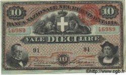 10 Lires ITALIE  1872 PS.213 SPL