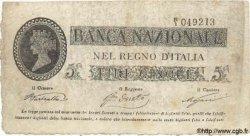 5 Lires ITALIE  1866 PS.733 TTB