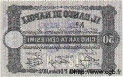 50 Centesimi ITALIE  1872 PS.361c SUP