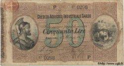 50 Lires ITALIE  1874 PS.472 B à TB