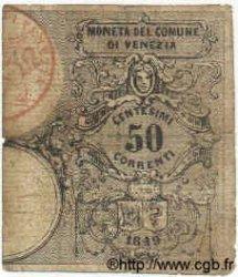 50 Centesimi ITALIE Venise 1849 PS.532 B+