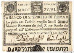 7 Scudi ITALIE  1796 PS.179 SPL