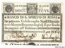 89 Scudi ITALIE  1796 PS.261 SPL