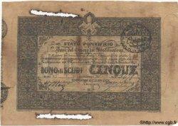 5 Scudi ITALIE  1849 PS.654 TTB