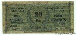 20 Francs NOUVELLES HÉBRIDES  1943 P.02 TTB