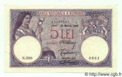 5 Lei ROUMANIE  1920 P.019a SPL