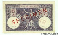 5 Lei ROUMANIE  1928 P.019s pr.NEUF