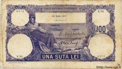 100 Lei ROUMANIE  1917 P.021 B à TB