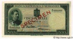 500 Lei ROUMANIE  1934 P.036s SUP