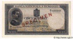 500 Lei ROUMANIE  1936 P.042s pr.NEUF