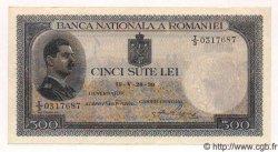 500 Lei ROUMANIE  1939 P.043 SUP
