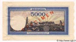 5000 Lei ROUMANIE  1943 P.055s SPL
