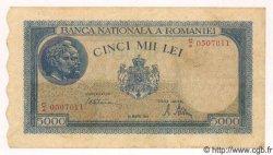 5000 Lei ROUMANIE  1945 P.056a SUP