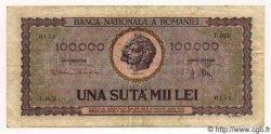 100000 Lei ROUMANIE  1947 P.059a TTB