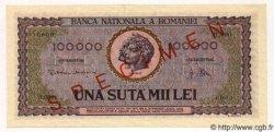 100000 Lei ROUMANIE  1947 P.059s pr.NEUF