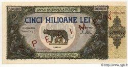 5 000 000 Lei ROUMANIE  1947 P.061s NEUF