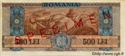 500 Lei ROUMANIE  1947 P.063s SUP