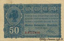 50 Bani ROUMANIE  1917 P.M02 SUP