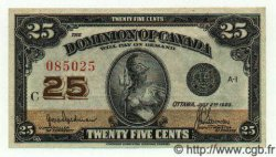 25 Cents CANADA  1923 P.011a SUP