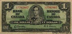 1 Dollar CANADA  1937 P.058b B+