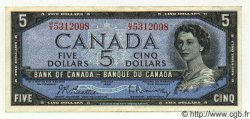 5 Dollars CANADA  1954 P.077b SUP+