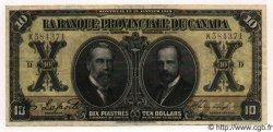 10 Dollars / 10 Piastres CANADA  1919 PS.0917var TTB+