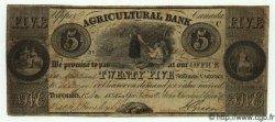 25 Shillings / 5 Dollars CANADA  1835 PS.1560 TB à TTB