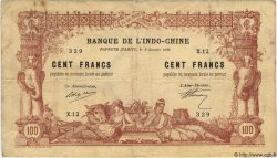 100 Francs TAHITI  1920 P.06b TB+