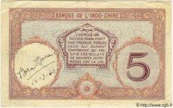 5 Francs TAHITI  1940 P.11c TTB+