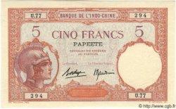 5 Francs TAHITI  1940 P.11c NEUF