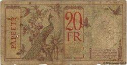 20 Francs TAHITI  1936 P.12b AB