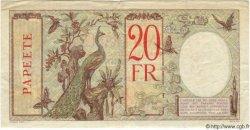 20 Francs TAHITI  1940 P.12c TTB