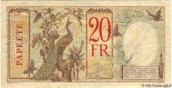 20 Francs TAHITI  1940 P.12d TTB