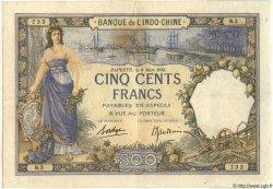 500 Francs TAHITI  1938 P.13b TB+