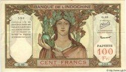 100 Francs TAHITI  1952 P.14b TTB+ à SUP