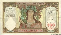 100 Francs TAHITI  1960 P.14c TTB+