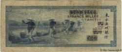 1000 Francs TAHITI  1943 P.18b pr.TB