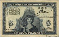 5 Francs TAHITI  1944 P.19a TTB