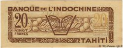 20 Francs TAHITI  1944 P.20s SPL