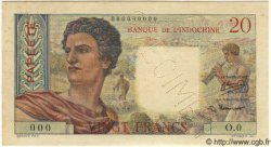 20 Francs TAHITI  1951 P.21as SPL