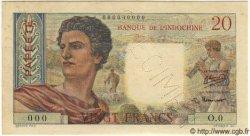 20 Francs TAHITI  1951 P.21as SPL
